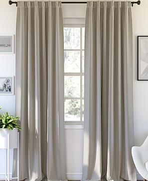 Комплект штор ТомДом Карес (светло-серый) фото