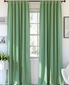 Комплект штор ТомДом Карес (зеленый) фото