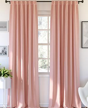 Комплект штор ТомДом Карес (жемчужно-персикового) фото