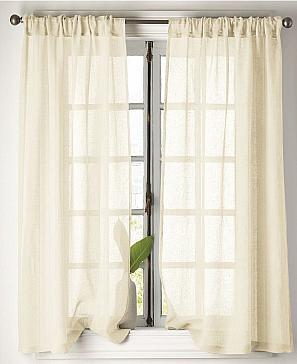 Комплект штор ТомДом Ланфи (молочный) фото