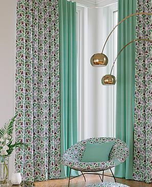Комплект штор ТомДом Марлон (бирюзовый) фото