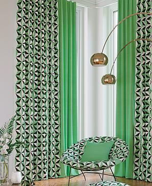 Комплект штор ТомДом Лидрос (зеленый) фото