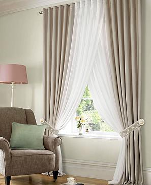 Комплект штор ТомДом Лусот (серо-коричневый) фото