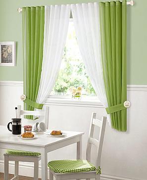 Комплект штор ТомДом Матуш (зеленый)