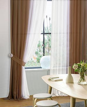 Комплект штор ТомДом Шатун (коричневый) фото