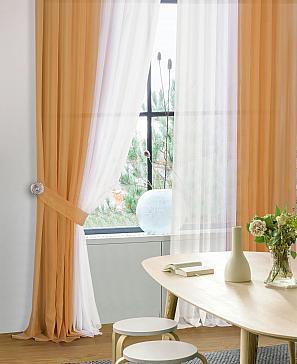 Комплект штор ТомДом Шатун (светло-коричневый) фото