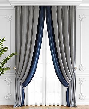 Комплект штор ТомДом Твеон (серо-синий) фото