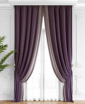Комплект штор ТомДом Твеон (фиолетово-сиреневый)