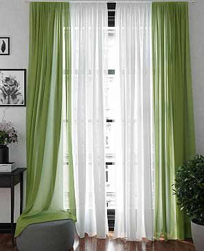 Тюль ТомДом Хлои (зеленый) фото
