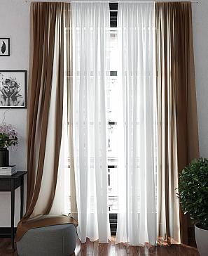Тюль ТомДом Хлои (коричневый) фото
