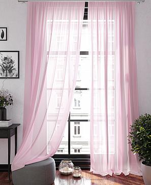 Тюль ТомДом Ларези (розовый) фото