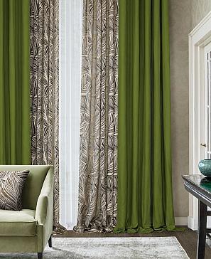 Комплект штор ТомДом Эффекти (зеленый) фото
