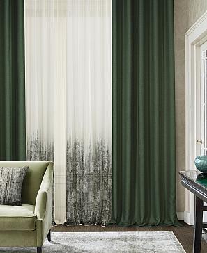 Комплект штор ТомДом Стилзи (зеленый) фото
