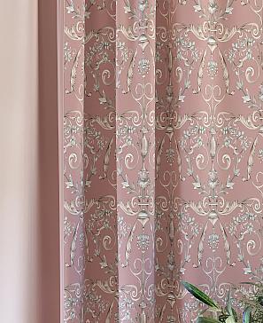 Комплект штор ТомДом Честин (розовый) фото
