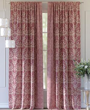 Комплект штор ТомДом Лендис (розовый) фото