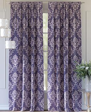 Комплект штор ТомДом Луврис (фиолетовый) фото