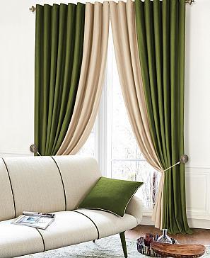 Комплект штор ТомДом Клоум (молочно-зеленый) комплект полотенец томдом тафири зеленый