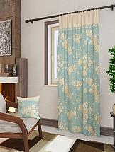 Портьера ТомДом Вивида-П (голубой) шторы томдом классические шторы вивида п цвет розовый