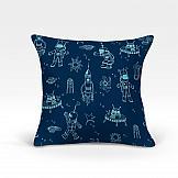 цена Декоративная подушка ТомДом Каскат-О (синий) онлайн в 2017 году