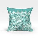 Декоративная подушка ТомДом Вольтер-О (бирюза)