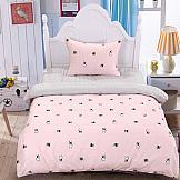 Постельное белье ТомДом Бондра (розовый) постельное белье arya кпб arya majestik бамбук barton 1 5 спальный розовый