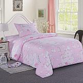 Постельное белье ТомДом Пингвины (розовый) постельное белье arya кпб arya majestik бамбук barton 1 5 спальный розовый