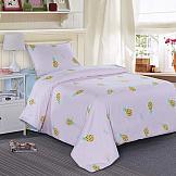Постельное белье ТомДом Ананасик (розовый) постельное белье arya кпб arya majestik бамбук barton 1 5 спальный розовый