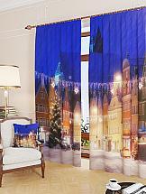 Комплект фотоштор ТомДом Город в преддверии праздника комплект фотоштор томдом средневековый маленький город
