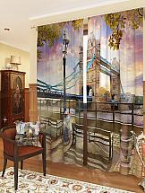 Комплект фотоштор ТомДом Мост над Темзой шторы томдом фотошторы мост над темзой