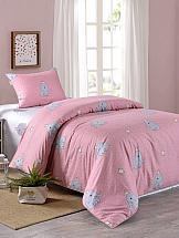 Постельное белье ТомДом Слон (розовый) постельное белье arya кпб arya majestik бамбук barton 1 5 спальный розовый