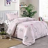 Постельное белье ТомДом Веселый слоник (розовый) постельное белье arya кпб arya majestik бамбук barton 1 5 спальный розовый