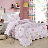 Постельное белье ТомДом Веселый Кролик (розовый) карандаши цветные krasin веселый кролик 24 шт