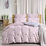 Постельное белье ТомДом Лайки (розовый) постельное белье gelin home с покрывалом esma грязно розовый евро стандарт