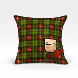цена Декоративная подушка ТомДом Литерн-О (зеленый) онлайн в 2017 году