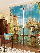 Комплект фотоштор ТомДом Утренняя Венеция комплект фотоштор томдом демин