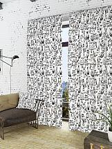 Комплект штор ТомДом Инис-К (белый) комплект штор томдом легия к белый