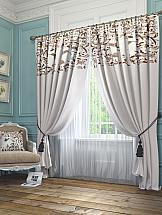 Комплект штор ТомДом Агно (серый) шторы для комнаты tomdom комплект штор агно розовый 260 см