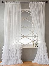 Комплект штор ТомДом Фогу (белый) комплект штор томдом легия к белый