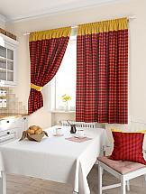 Фото - Комплект штор ТомДом Пиндаф (бордо) шторы для комнаты реалтекс комплект штор 030 бордо