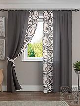Комплект штор ТомДом Хенди (серо-коричневый) абажур серо коричневого цвета lucide shades 61023 35 41
