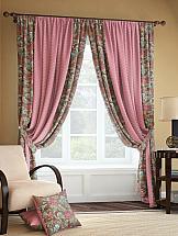 Комплект штор ТомДом Розиус (розово-коричневый) комплект штор томдом карас мятно коричневый