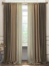 Комплект штор ТомДом Диве (коричневый-беж-молоко) комплект штор томдом элонар коричневый