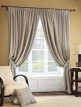 Комплект штор ТомДом Салет (бежево-коричневый) silk place c cn3 2001fk a комплект дивандеков бежево коричневый