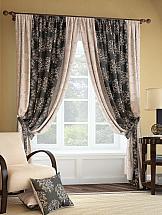 Комплект штор ТомДом Кост (бежево-коричневый) silk place c cn3 2001fk a комплект дивандеков бежево коричневый