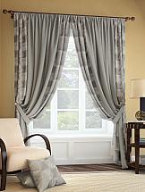 Комплект штор ТомДом Ларон (серо-коричневый) комплект штор томдом карас мятно коричневый