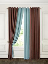 Комплект штор ТомДом Мюрия (коричневый/морская волна) шторы для комнаты blackout комплект штор блэкаут софт b531 2 морская волна 200 270 см
