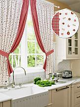 Комплект штор ТомДом Ивиса (красн.) штора для кухни kauffort лилу на ленте с подхватом ширина 175 см высота 175 см