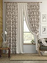 Комплект штор ТомДом Энтель (бежево-коричневый) silk place c cn3 2001fk a комплект дивандеков бежево коричневый