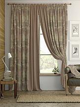 Комплект штор ТомДом Карас (мятно-коричневый) комплект штор томдом пьерио коричневый