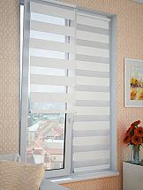 цены Рулонная штора ТомДом День-Ночь (белая) - ширина 62 см.